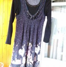 Платье, свободное от груди (можно для беременных)