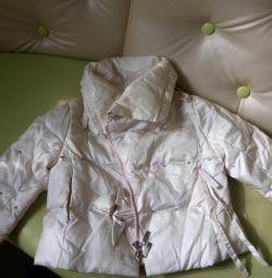 3-4 yaş kızlar için ilkbahar ve sonbahar ceket