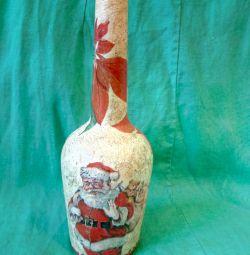 Sticlă de decupaj Moș Crăciun