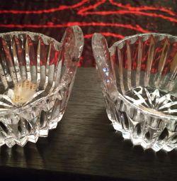 Vase de cristal URSS.