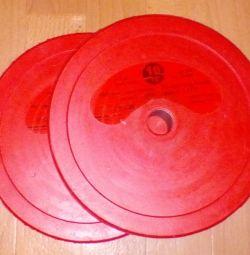 Спортивные диски блины 10кг