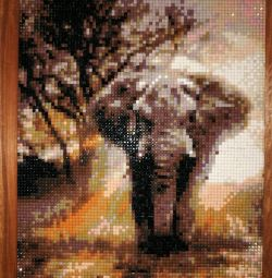Diamond Mosaic Elephant