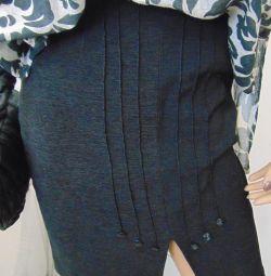 Gray suit skirt