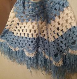 Poncho tricotat