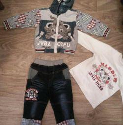 Джинсовий костюм на зростання 86-92