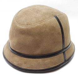 Panama hat men's fur winter (tobacco)