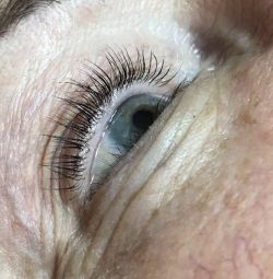 Laminating eyelashes