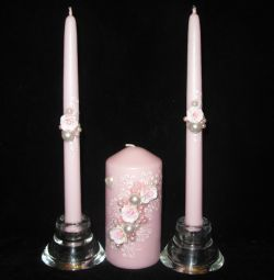 Wedding candles family hearth