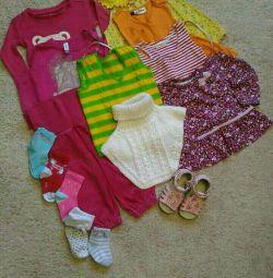 Geantă de haine pentru copii dimensiunea 74-80