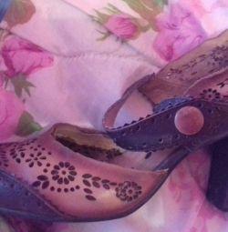 Шкіряні вантажні туфлі р.38,5
