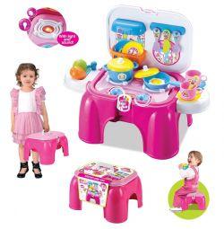 Игровой детский набор Кухня-Стульчик + свет и звук