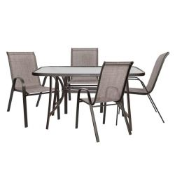 SET 5MM WITH 4 CHAIRS & TABLES HM520