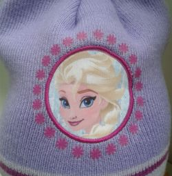 Новая шапочка с Эльзой из Frozen для девчушки 52