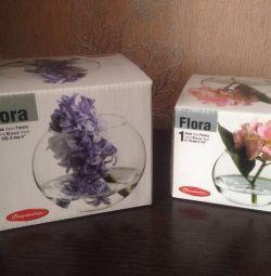Вазы новые стекло/флорариум