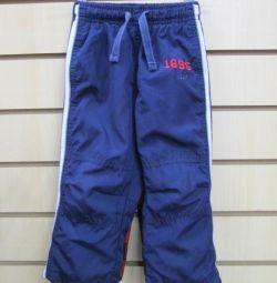 Pantalonii OSHKOSH sunt bolonovye, căptușite tricotate