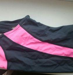 купальник суцільний для дівчинки сіро-рожевий