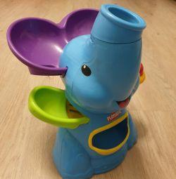 Слоник фонтан Playschool голубой