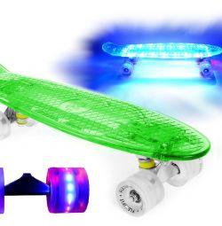 NEW SKATEBOARD GLOWING FISHBOARD LED GREEN