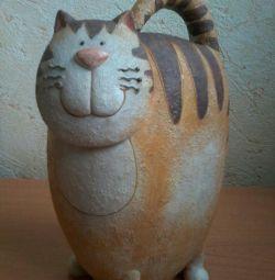 Kedi heykelcik