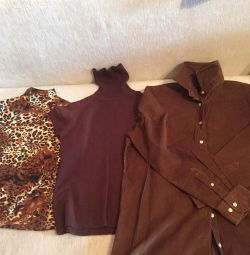 Рубашки , водолазки , свитера, туники 48-50/52