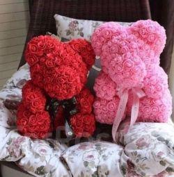 Urși din trandafiri de 40 cm
