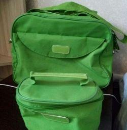 Travel bag. + Cosmetic bag.