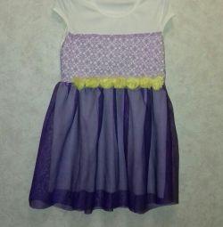 3 φορέματα και μια φούστα (για όλους), ύψος 104-110 cm