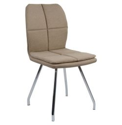 FOXY CHAIR HM0146.02 BEIGE & CHROME JOINTS