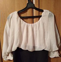 Блузка шифоновый верх