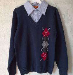 Jumper on the boy. New