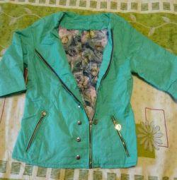Куртка вітровка яскрава на блискавки 3/4 рукав нова ..