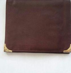 Deri cüzdan çanta