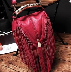 Fashionable bag black and red