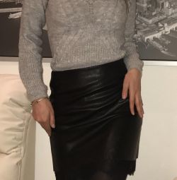 Eco-leather skirt