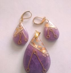 Set pendant and earrings