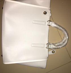White new handbag