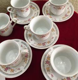 Set de cafea din porțelan