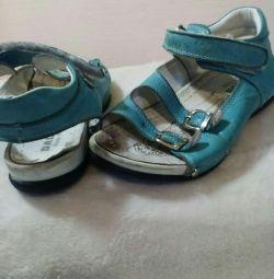 Sandals for girls skin! 32 size! 19.5-20 cm