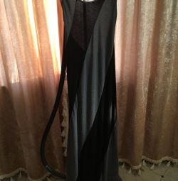 Uzun pamuklu elbise