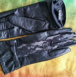 Mănuși din piele 6.5