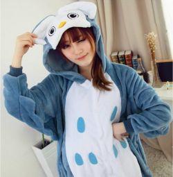 Сова, кигуруми комбинезон пижама
