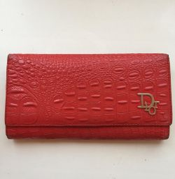 Purse genuine leather wallet