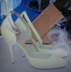 Παπούτσια καλοκαίρι / γάμος nat. δέρμα