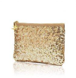 Geantă cosmetică de aur