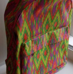 Multicolored polyester backpack with PVC coating