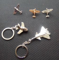 Keychains and Aviation Badges
