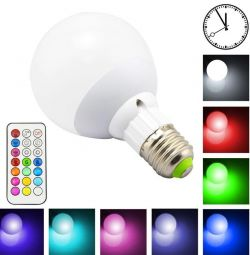 Multicolor LEDtime RGB 10W E27 with timer