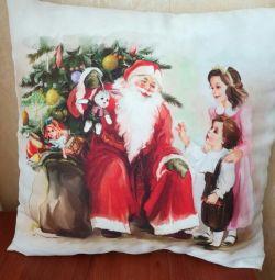 Το μαξιλάρι της Πρωτοχρονιάς 40 × 40