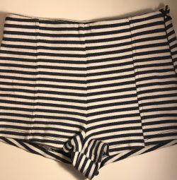 Shorts cu talie mare