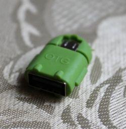 OTG Adaptörü Android USB MicroUSB yeşil